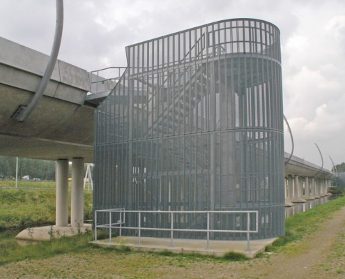 Neco staalbouw | Trappenhuizen Betuweroute