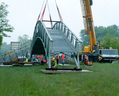 Neco staalbouw - voetgangersbrug Twickel